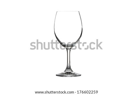 Wine glass isolated on white background. - stock photo
