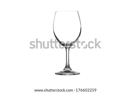 Wine glass isolated on white background. - stock photo