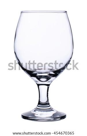 wine glass isolated on white background - stock photo