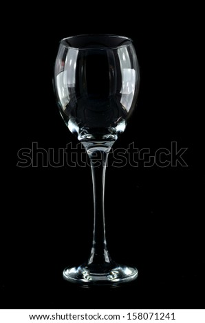 Wine glass on a black background