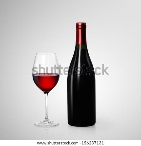 Wine glass on the wine barrels  - stock photo