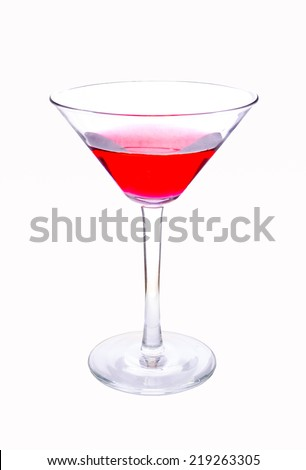 Wine glass on white background clipping path
