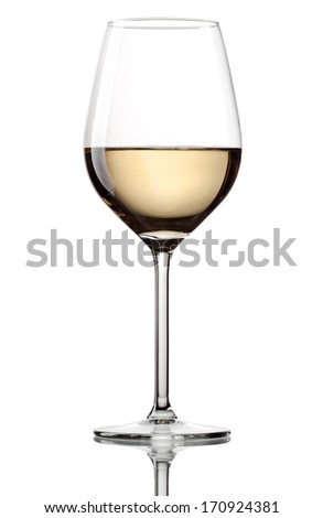 Wine glass photo on white background - stock photo