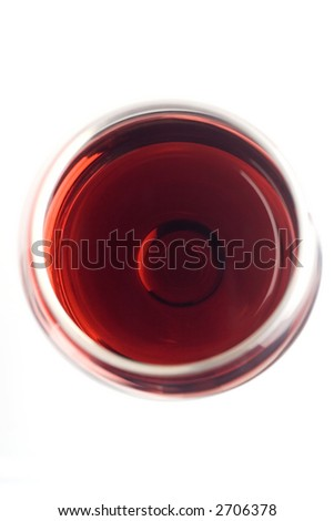 Wine glass shot from top - stock photo