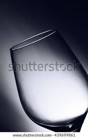 Wine glass top slanted - stock photo