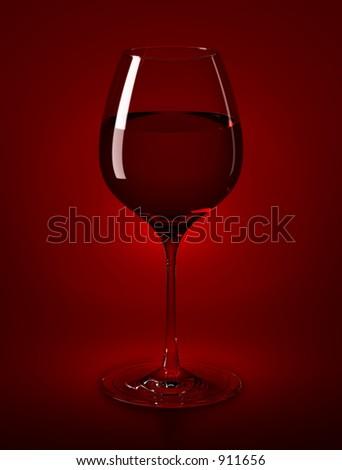 Wine Glass & Wine - stock photo