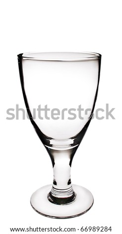 wine glasses isolated on white background with clipping path - stock photo