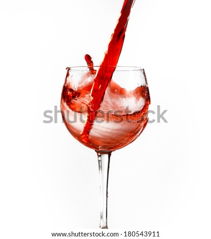 wine glasses on an isolated background