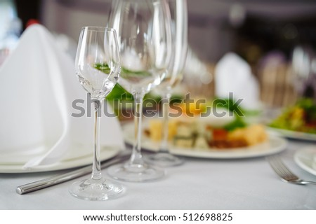 wine glasses table decoration party wedding
