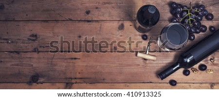 Wine header image - stock photo