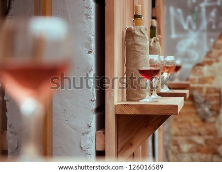 Wine in glasses - stock photo