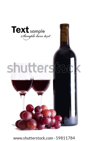 Wine isolated