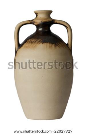 wine jug on white background - stock photo