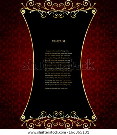 wine label template with sample text - stock photo