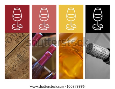 Wine labels - stock photo