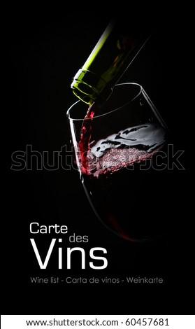 Wine list - stock photo