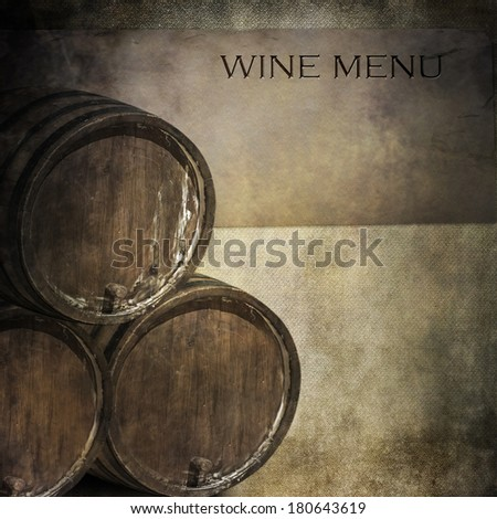 wine menu - stock photo