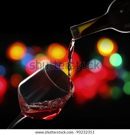 Wine on a black background
