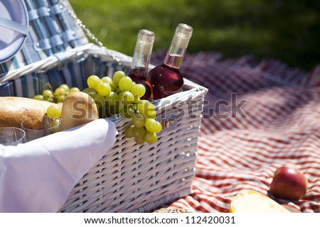 Wine on picnic! - stock photo
