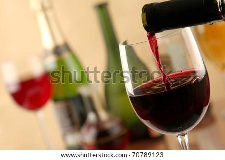 Wine Pour - stock photo