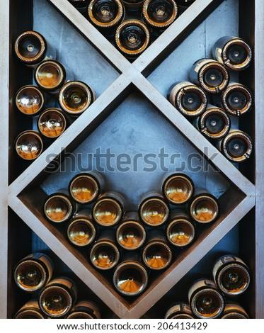 wine rack - stock photo
