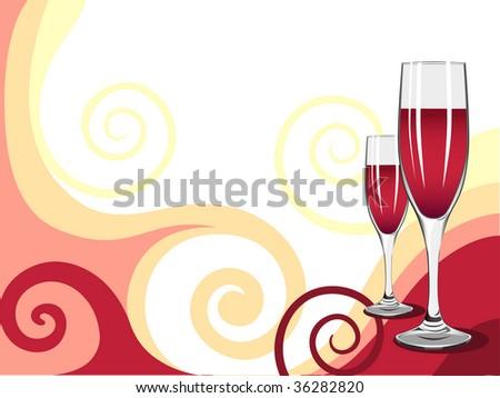 wine (Raster version of vector) - stock photo