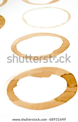 Wine Rings on White Paper.