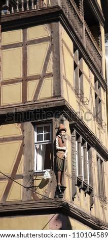Wine road vacation in Alsace Colmar - stock photo