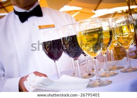 Wine Service - stock photo