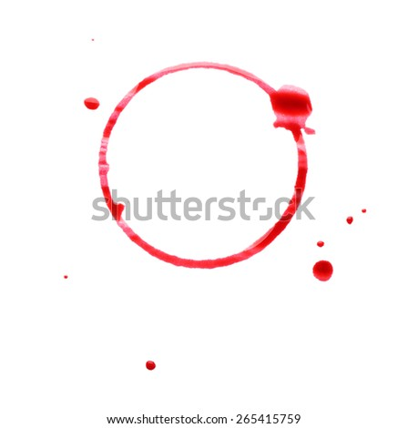 Wine stain isolated on white - stock photo