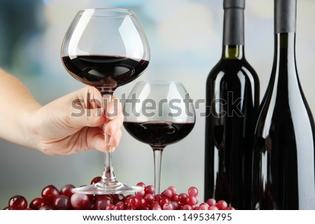 Wine tasting in restaurant