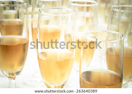 Wine time on the party. - stock photo