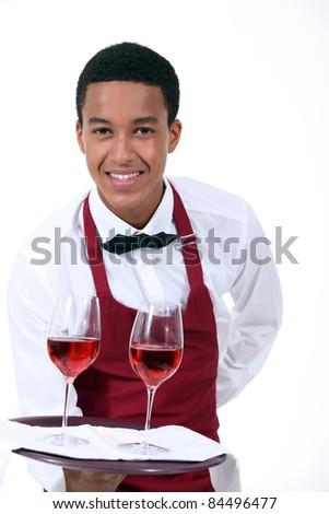 Wine waiter - stock photo