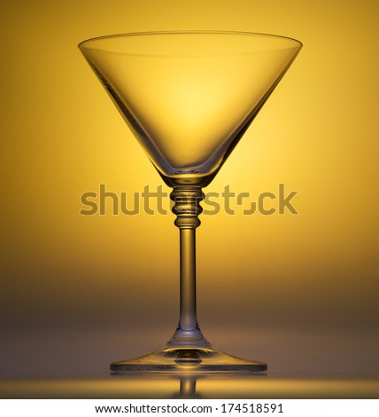 wineglass glass water Isolated on white background