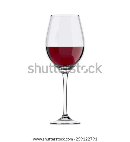 wineglass with wine, isolated - stock photo