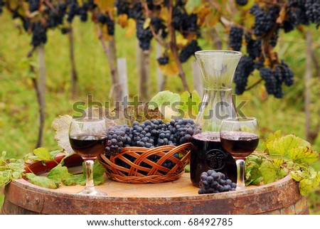 wineglasses with red wine