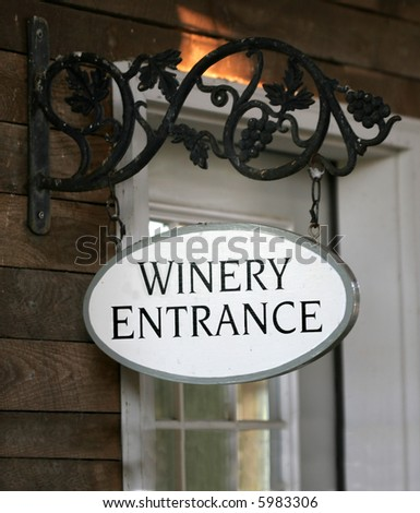 Winery Entrance - stock photo