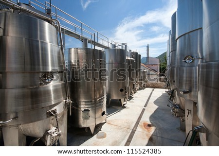 Winery in Croatia - stock photo