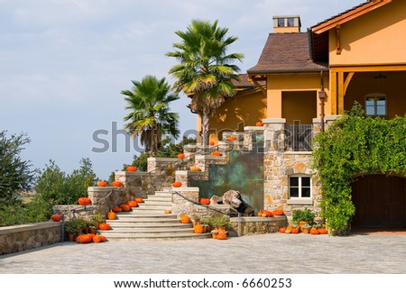 Winery in Napa Valley in Autumn - stock photo