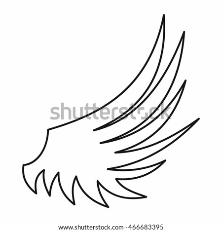 Wing icon in outline style isolated  illustration