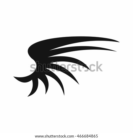 Wing icon in simple style isolated  illustration