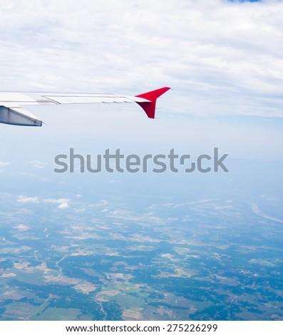 Wing over Lands Heavenly Scene  - stock photo