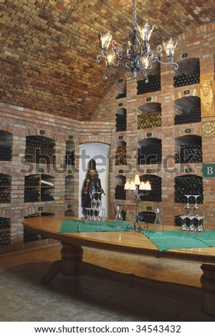 winne cellar - stock photo