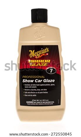 Winneconne, WI - 25 April 2015: Bottle of  Mequiar's mirror glaze polish. - stock photo