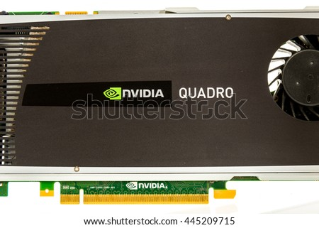 Winneconne, WI - 11 Dec 2015: Nvidia Quadro graphics card on an isolated background
