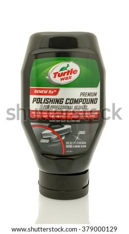 Winneconne, WI - 19 Feb 2016:  Bottle of Turtle Wax polishing compound. - stock photo