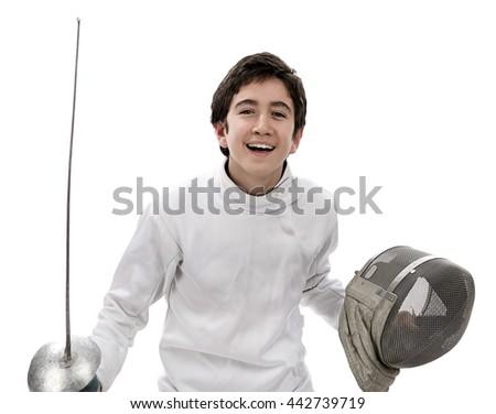 Winner Fencer  - stock photo