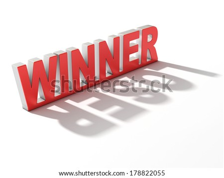 winner letters casting loser shadow