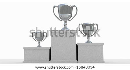 winners podium - stock photo