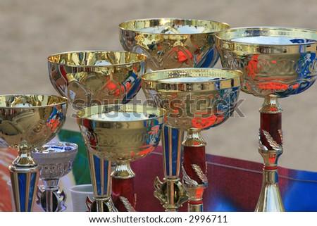 Winners Trophies - stock photo